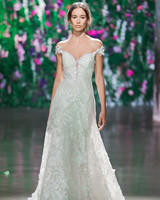 Galia Lahav Floral Off-the-Shoulder Sweetheart Wedding Dress Fall 2018