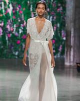 Galia Lahav Short Sleeve V-Neck Wedding Dress Fall 2018