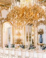 glamorous wedding ideas grand hall dining large chandelier