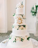 glamorous wedding ideas flora filled tiered cake