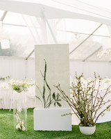 grace ceron wedding seating chart and plants
