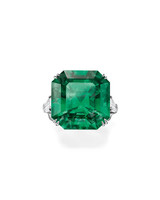 Harry Winston Emerald Engagement Ring