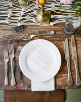 hayleigh corey wedding place setting rustic style