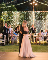 head table ideas dancing couple
