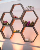 Honeycomb Wedding Inspiration, Honeycomb Shaped Backdrop
