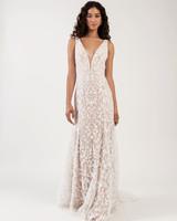 thick spaghetti strap deep v-neck lace a-line wedding dress Jenny by Jenny Yoo Spring 2020