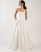 spaghetti strap square neckline pockets a-line wedding dress Jenny by Jenny Yoo Spring 2020