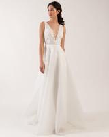 wide spaghetti strap deep v-neck lace bodice a-line wedding dress Jenny by Jenny Yoo Spring 2020