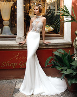 high neck trumpet julie vino wedding dress spring2018