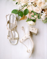 kaitlin jeremy wedding shoes and bouquet