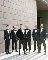 katie andre wedding groomsmen group