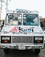 kogi bbq food truck white mobile vehicle