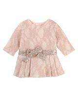 blush lace Billieblush flower girl dress