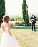 leila joel wedding ceremony serenade