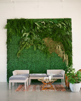 wedding plant wall boxwood and foliage