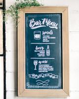 maggie zach wedding bar menu