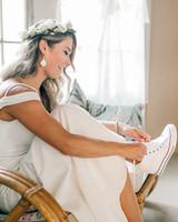 maggie zach wedding brides dancing sneakers