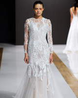 mark zunino wedding dress fall 2018 long sleeves sheer trumpet