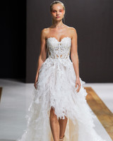 mark zunino wedding dress fall 2018 strapless high-low textured