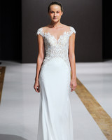 mark zunino wedding dress fall 2018 cap sleeves column embellished
