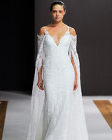 mark zunino wedding dress fall 2018 off the shoulder spaghetti strap lace trumpet