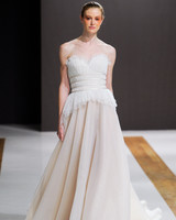 mark zunino wedding dress fall 2018 strapless banded tulle