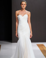 mark zunino wedding dress fall 2018 strapless sweetheart rouched trumpet