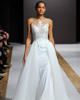 mark zunino wedding dress fall 2018 illusion neckline ball gown
