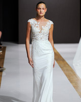 mark zunino wedding dress fall 2018 illusion neckline cap sleeves deep v