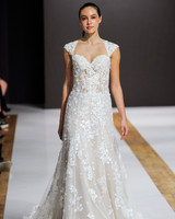 mark zunino wedding dress fall 2018 lace sweetheart cap sleeves