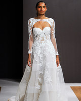 mark zunino wedding dress fall 2018 cut-out embellished long sleeves