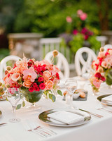 melissa michael reception table decor