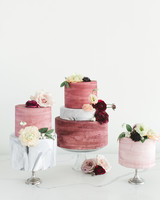 micro tier wedding cakes pink marble