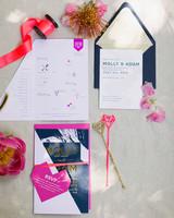 molly adam wedding stationery