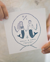 Mermaid Welcome Card