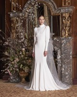 monique lhuillier wedding dress spring 2019 long sleeve high neck