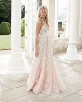 needle and thread wedding dress spring2017 blush straps