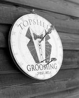 rae rob wedding groomsmen dartboard