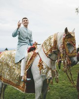 sanjay steven wedding baraat on horse