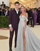 Shawn Mendes and Hailey Baldwin Meta Gala 2018