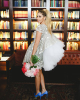 short wedding dress short sleeve tulle veil