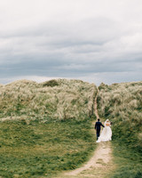 simone darren wedding ireland couple walking away