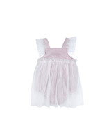 Bebe Organic Sleeveless Flower Girl Dress Romper