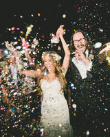 confetti wedding exit