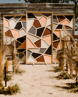 Handmade geometric stained glass Backdrop