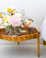 bridal shower decor - side table