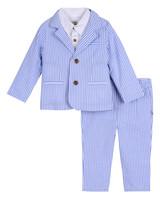 Little Brother by Pippa & Julie Seersucker Suit Set
