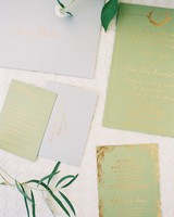Shining Gold Calligraphy metallic invitations