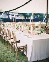 White and Gold Wedding Tent Decorations