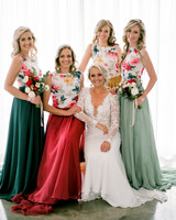 two piece bridesmaids rensche mari floral